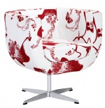 Flower Fabric Lounge Chair